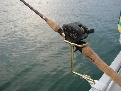 Pontoon boat rail fishing rod holder great gift idea for Fishing pole holders for boats