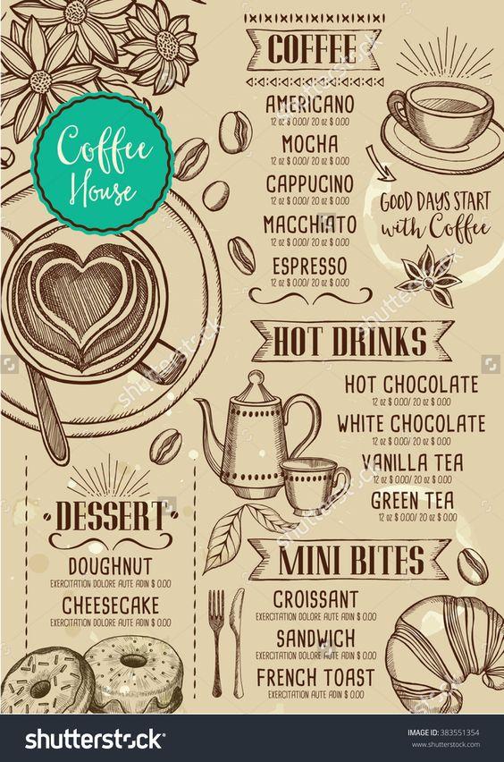 stock-vector-coffee-restaurant-brochure-vector-coffee-shop-menu - restarunt brochure