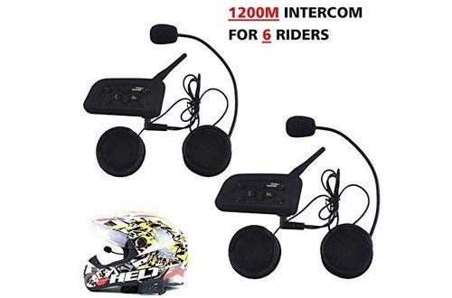 Top Max Waterproof Helmet Bluetooth Intercom Headset For Motorcycle Intercom Motorcycle Helmets Motorcycle