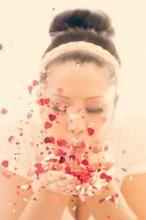 Schöne Idee für ein romantisches Foto zum Valentinstag zum Beispiel