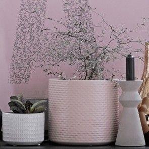 Pot de fleur rose pâle Bloomingville: