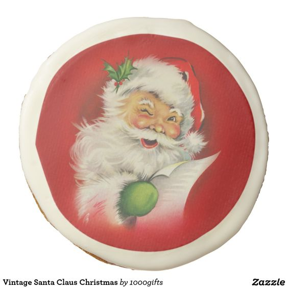 Vintage Santa Claus Christmas Sugar Cookie