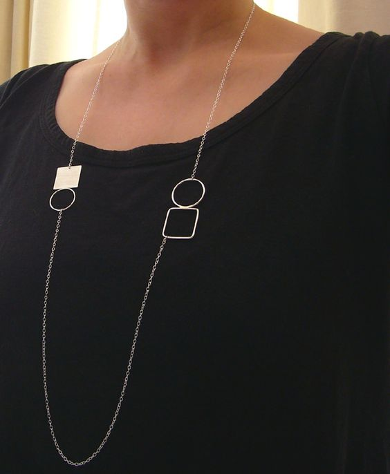 Double circle & square necklace £34.00