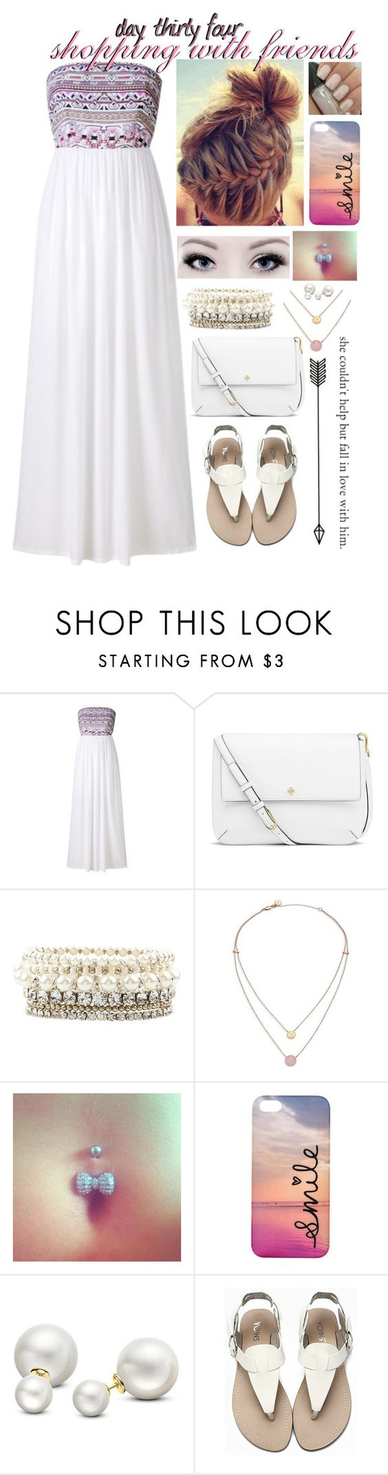"""""""day thirty four, shopping with friends"""" by roxouu ❤ liked on Polyvore featuring Tory Burch, Accessorize, Michael Kors, claire's, Allurez and byroxouu"""