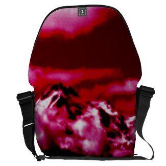 Mystical Mount Shasta in Red SDL  Bag 2 Courier Bag