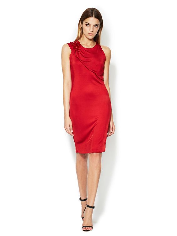Jersey Draped Panel Dress  Dress #Power #TuxedoWomen #Dresses