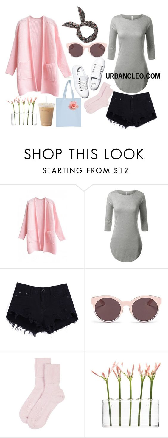 """""""URBANCLEO Side Slit Long T-shirts Outfit"""" by urbancleo ❤ liked on Polyvore featuring Christian Dior, Diemme, Johnstons of Elgin, Dot & Bo, women's clothing, women, female, woman, misses and juniors"""