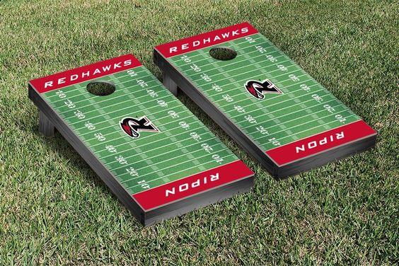 Ripon College Red Hawks Football Field Cornhole Board Set