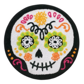 halloween sugar skull bath rug | santa muerte | pinterest | home