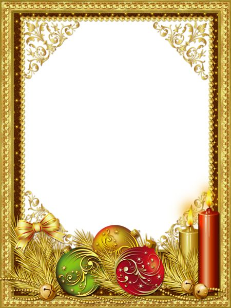 Beautiful Gold Christmas PNG Photo Frame | Frames - Christmas or ...