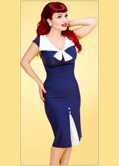 beautiful #vintage #sailordress @ Daddy O's