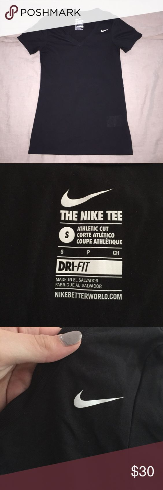 Nike workout shirt worn once. 10/10 condition Nike Tops Tees - Short Sleeve