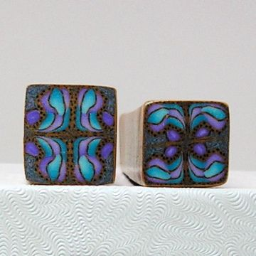Abstract canes in purple and blue. A little dark but I still like them.