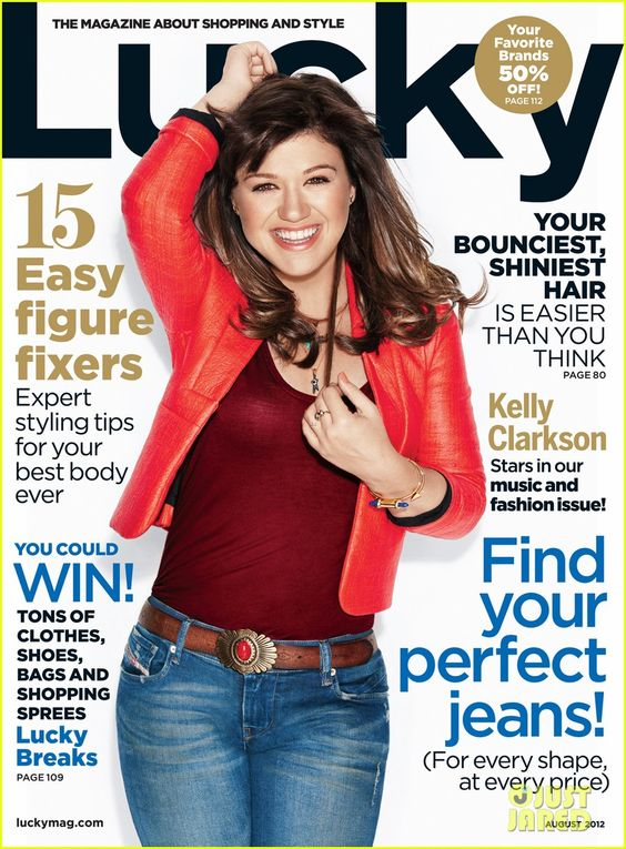 Kelly Clarkson, Lucky's Music Issue, August 2012 #MagazineCovers