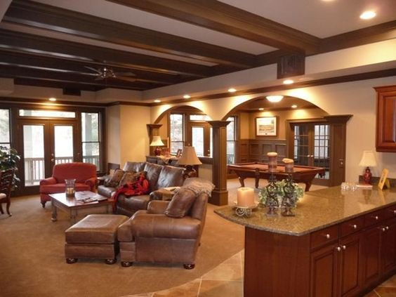WOW...beautiful basement...(yes basement) family room...
