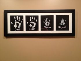 Clumsy Crafter : Hand-print artwork
