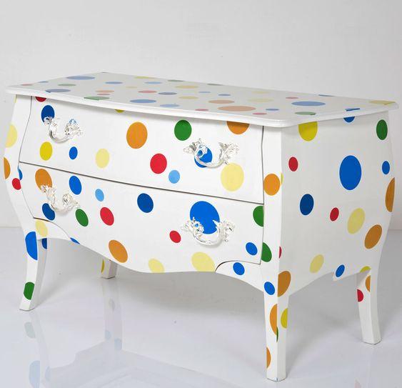 Full Polka Dot Painted Furniture