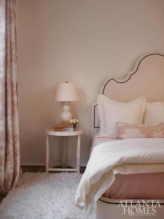 Pretty in pink bedroom with classic interior design by Amy Meyer. #blushpink #classic #bedroom