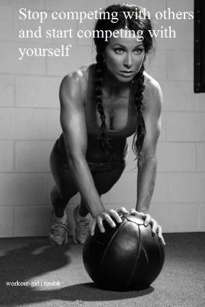 biggest competition is yourself: Motivational Quote, Health Fitness, Remember This, Fitness Inspiration, Biggest Competition, So True, Fitness Motivation, Medicine Ball, Start Competing