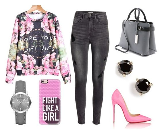 """""""floral"""" by synai-dolce on Polyvore featuring H&M, Michael Kors, Burberry, Kate Spade, Christian Louboutin and Casetify"""