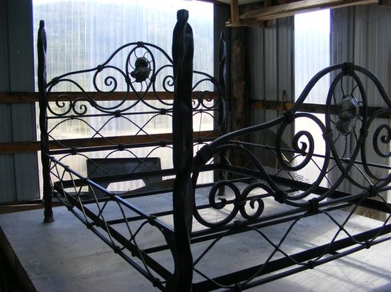 Iron scroll bed by TaosMountainForge on Etsy, $5200.00 | Steel Beds ...