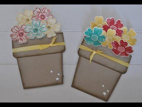Blumentopfkarte mit Produkten von Stampin' Up! - YouTube