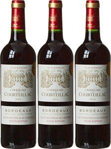 CHATEAU DE COURTEILLAC France Bordeaux Vin AOP 2014 75 cl – Lot de 3