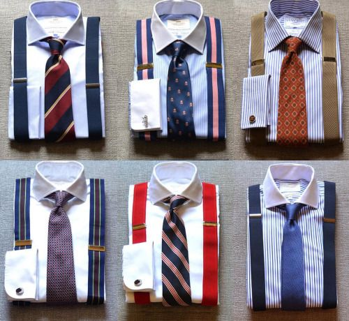 Braces and tie combos / combinaciones de tirantes y corbatas #FLATLAY @FLATLAYAPP #FLATLAYS www.theflatlay.com
