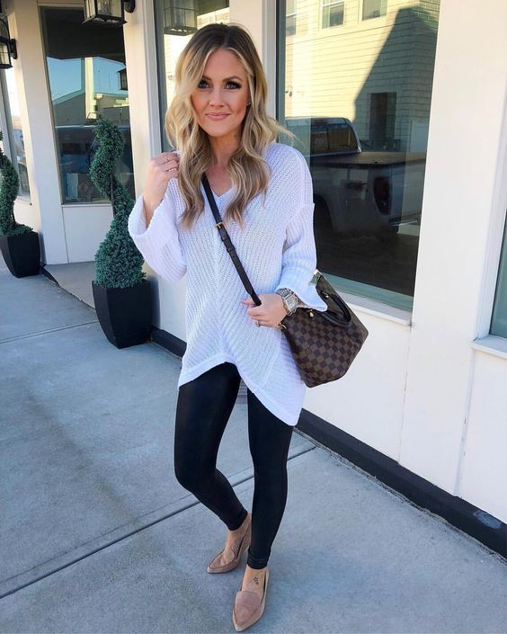 Chic Spring Leggings Outfits That Will Make You Feel Comfortable Outfits With Leggings Liquid Leggings Outfit Spring Leggings