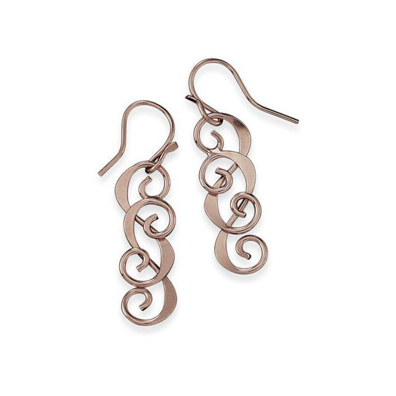 Double Swirl Earrings ($23) ❤ liked on Polyvore featuring jewelry, earrings, 14k jewelry, earrings jewelry, 14 karat gold earrings, long earrings and swirl earrings
