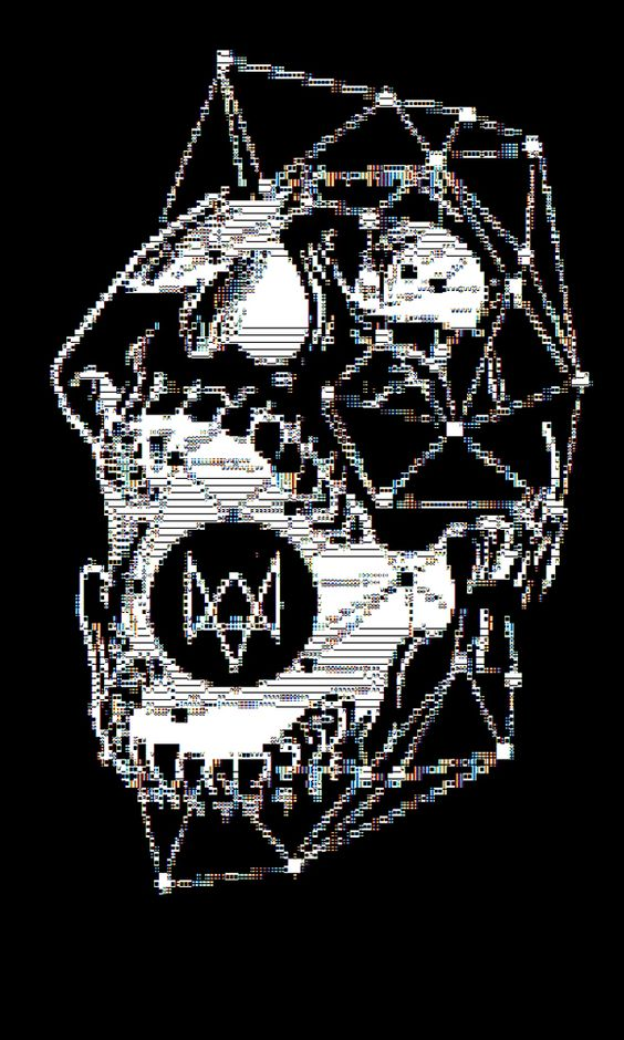 One Line Ascii Art Music : Dedsec ascii art re envisioning of the group from
