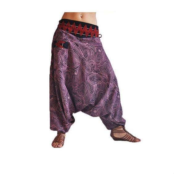 "Pantalones Harem - Pantalón Haren púrpura ""Melodie"" de virblatt - hecho a mano…"