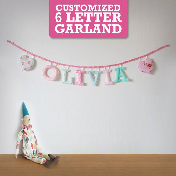 Customized Handmade Fabric Garlands  6 by Loveprettygarlands, $41.00