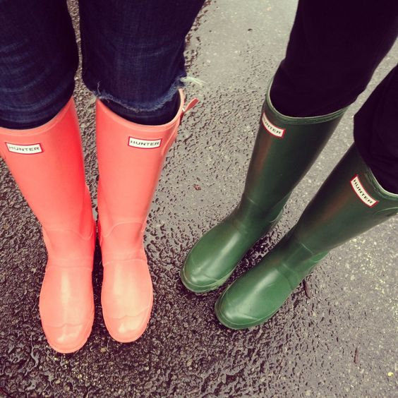 Hunter boots; im in love with this leather lined rain boots, good ...