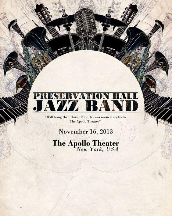 Preservation Hall Jazz Band Poster by JoeHarperArtwork on deviantART