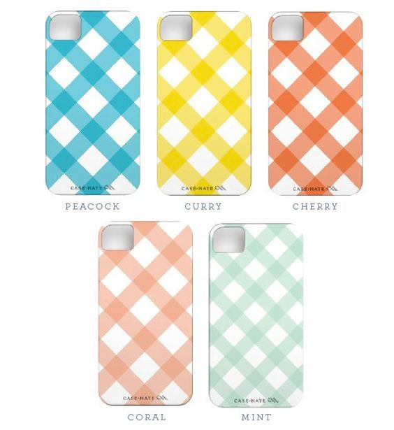 Gingham iPhone cases