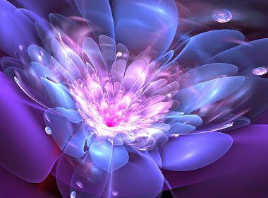 Blauw paarse lichtgevende bloem
