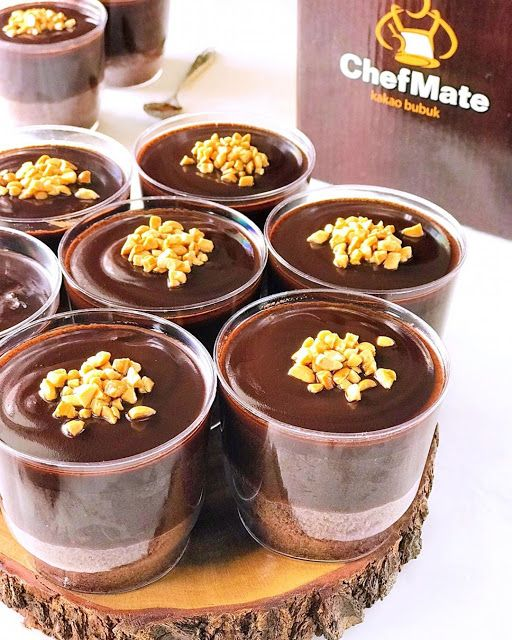 Chocolate Dessert In Cup Made By Linagui Kitchen Resep Aneka Kue Enak Chocolate Desserts Desserts Food