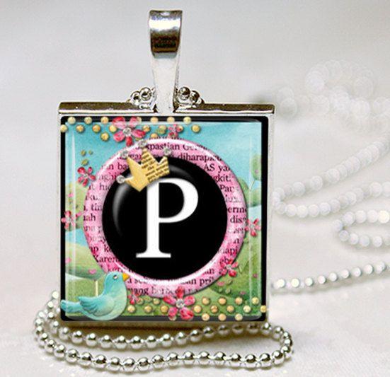 Princess Initial Monogram Jewelry Initial by vintagewithflair, $8.95