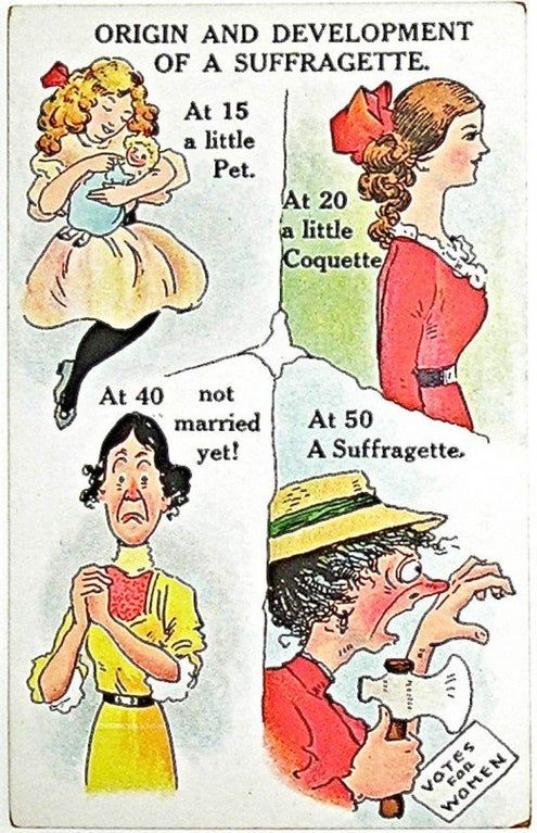 1900 S Anti Feminist Poster Propagandaposters In 2020 Suffragette Anti Suffrage Suffrage