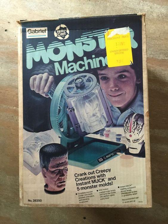 vintage 1977 Gabriel Monster Machine COMPLETE Frankenstein Universal Monsters #Gabriel