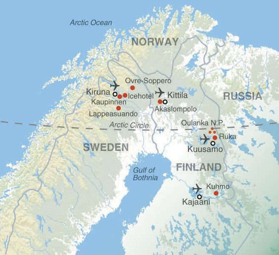 North Of The Arctic Circle Near The Town Of Kiruna Sweden Is - Sweden map arctic circle