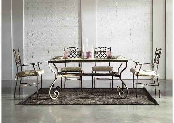 Base de mesa en forja artesanal. Modelo Damasco . Made in spain. www.fustaiferro.com