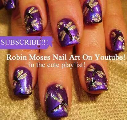 Robin Moses dragonflies with glitter
