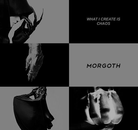 Morgoth, the Dark Enemy of the World. 1/2      Great might was given to him by Ilúvatar, and he was coeval with Manwë. In the powers and knowledge of all the other Valar he had part, but he turned them to evil purposes, and squandered his strength in violence and tyranny.