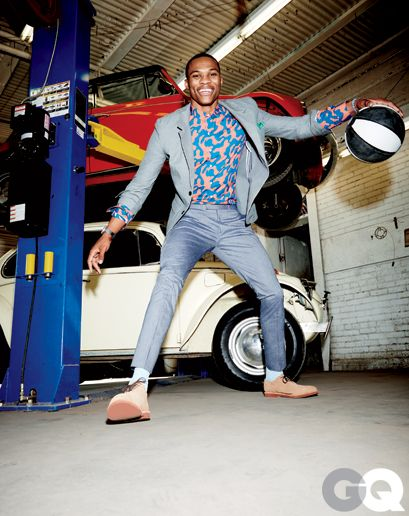 Russell Westbrook in Patterned Shirts for Spring: Style: GQ by Eric Ray Davidson