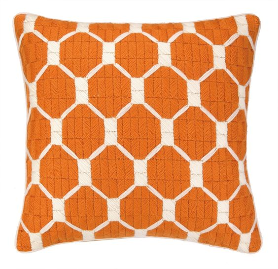 Design Tip - Highlight the upcoming Halloween Season through color in your accessories. Select one that will work with your design style after the season has passed. These pillows with geometric designs have a great modern flare as well as the bewitching colors of black & orange! visit www.MatthewTaylors.com and then go to Seasons - Harvest and Goblins.