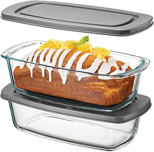 Superior Glass Loaf Pan With Cover 2 Piece Meatloaf Pan With Bpa Free Airtight Lids Grip Handles For Easy Carr Moist Banana Bread Meatloaf Pan Bread Baking
