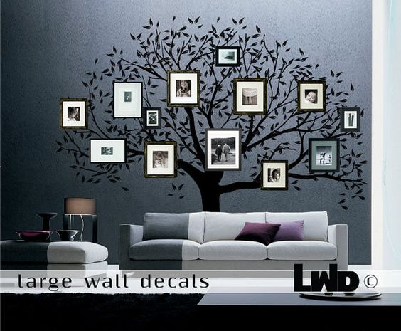 family tree decal large wall decor home decor by largewalldecals 24000