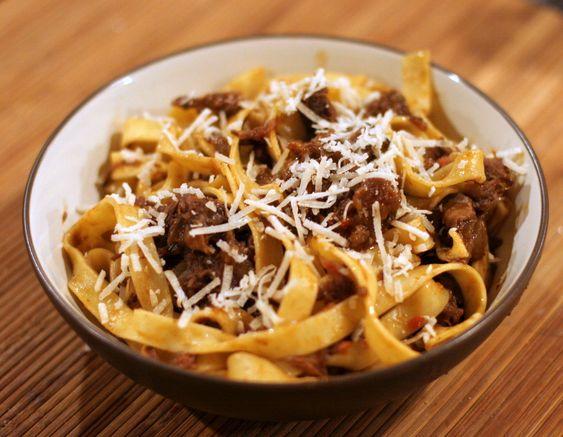 beef shank ragu - server over parpadelle, or polenta or mashed potatoes
